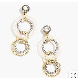 J. Crew Jewelry - NWOT J. Crew Crystal and gold circle drop earrings